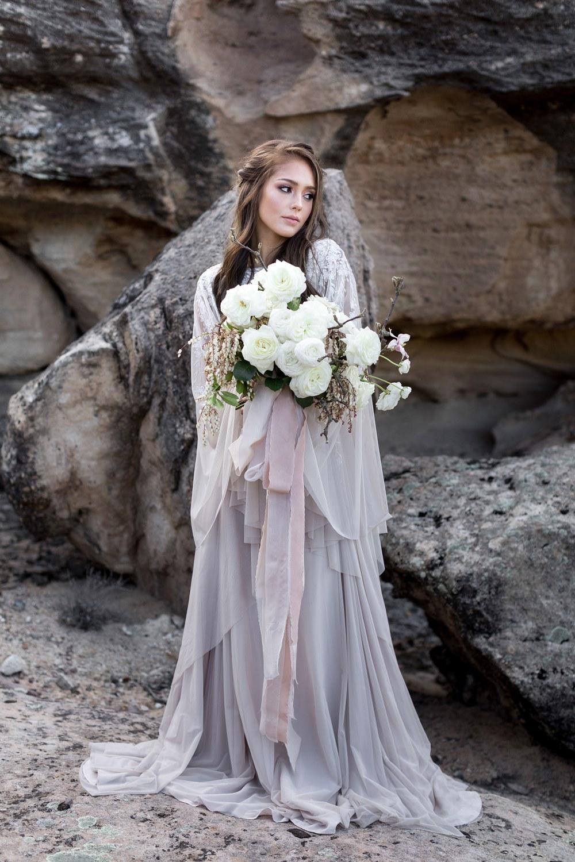 white oversized bridal bouquet