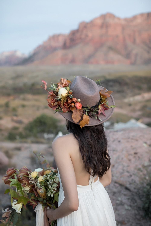 fall inspired bridal hat