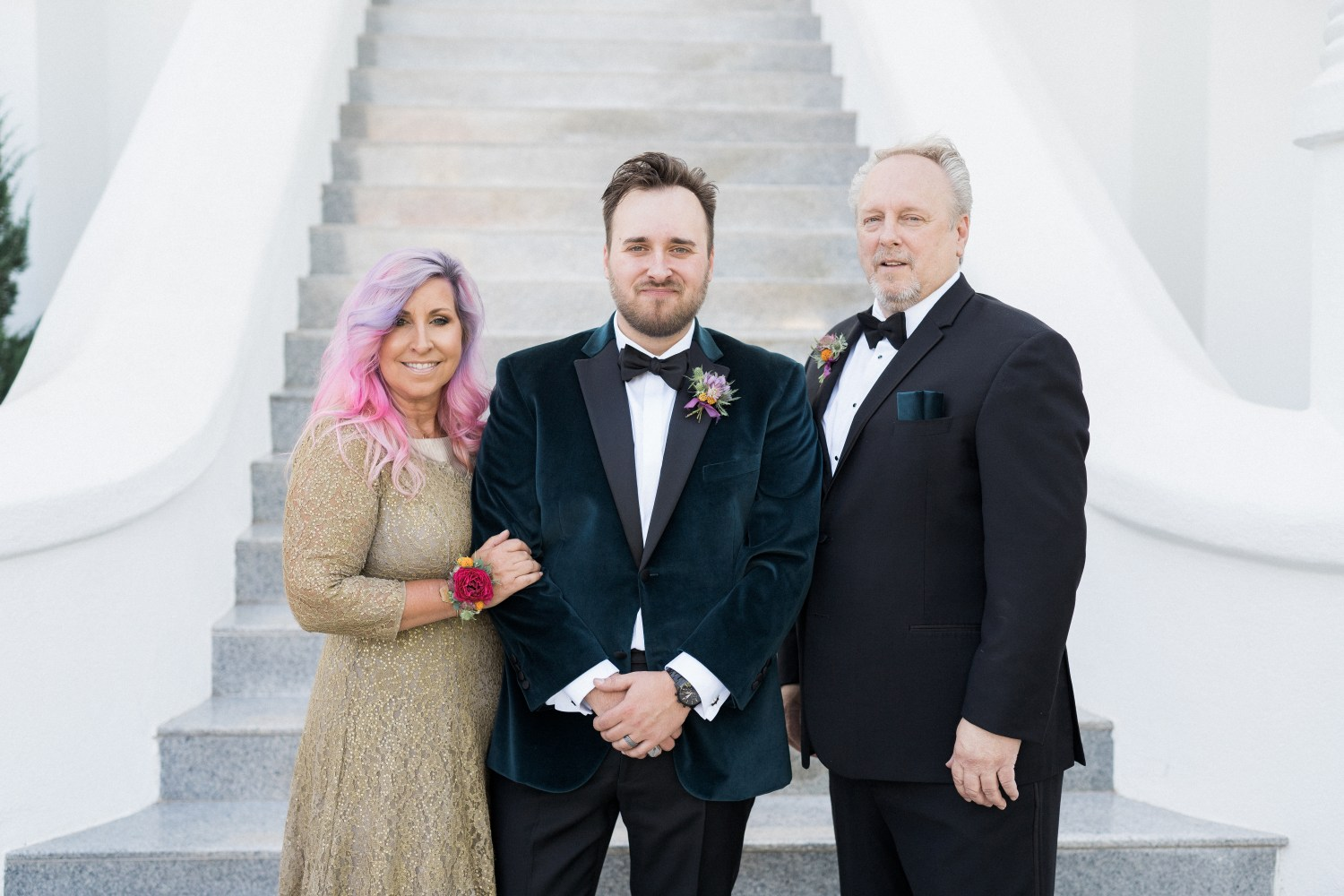 mother of the groom and father of the groom
