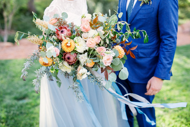 zion inspired bridal bouquet