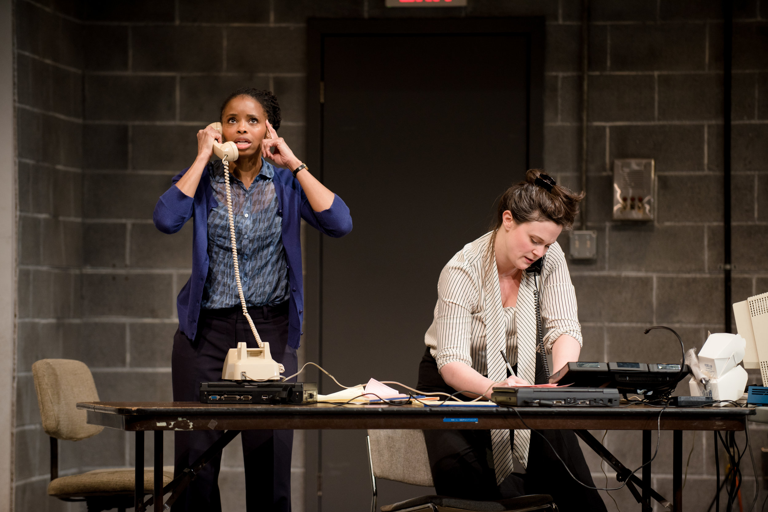 Carla Duren and Jessica Wortham in MARGINAL LOSS by Deborah Stein, 2018 Humana Festival. Photo by Dana Rogers..JPG