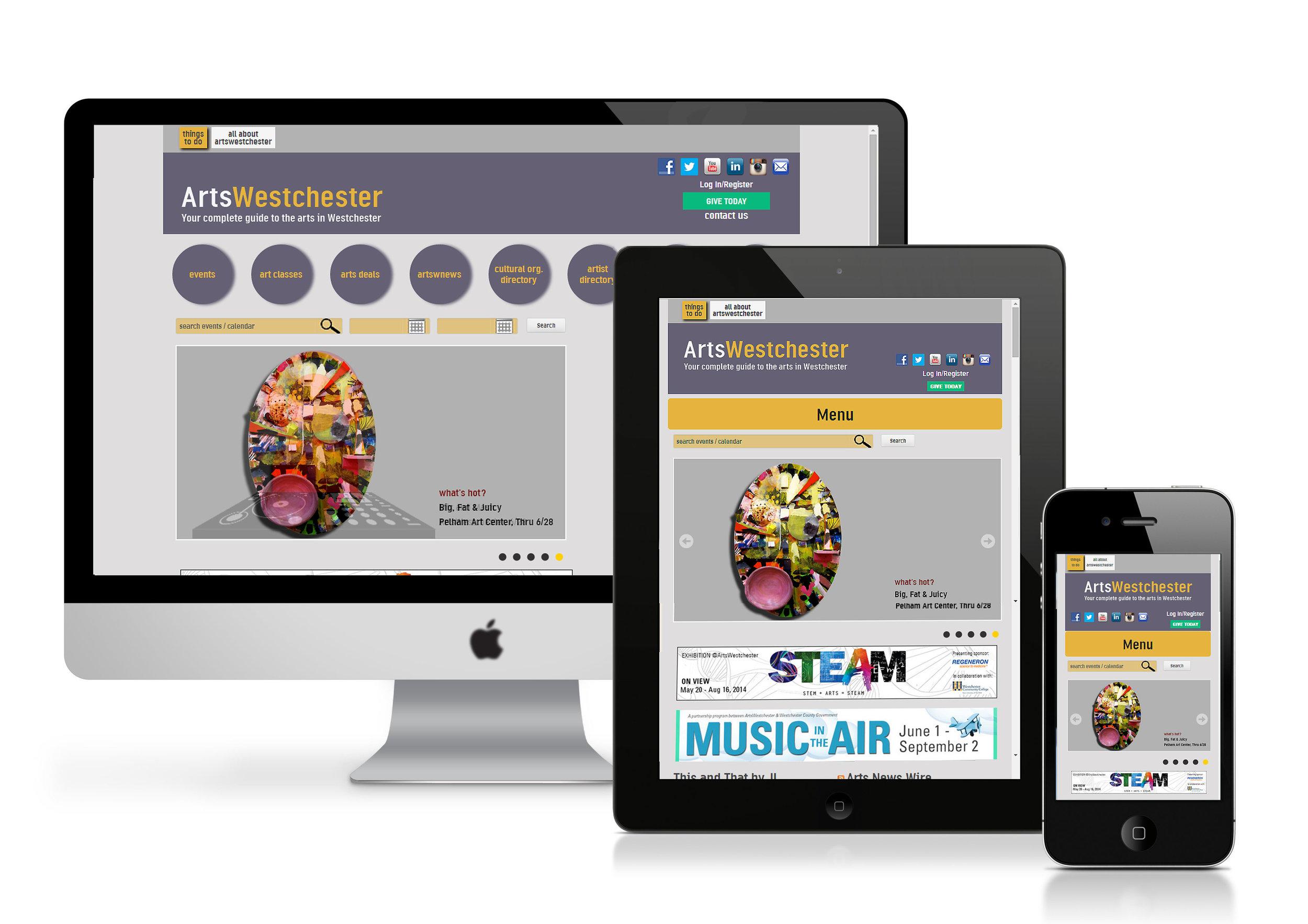 ArtsWestchester Webiste