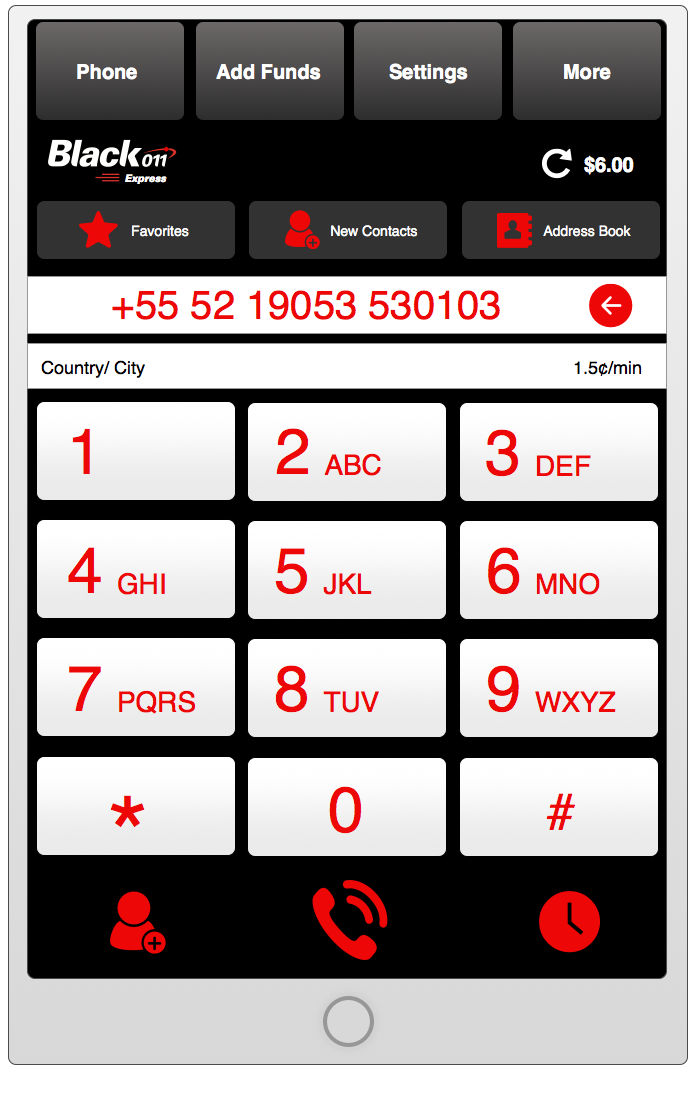 Application Home Interface