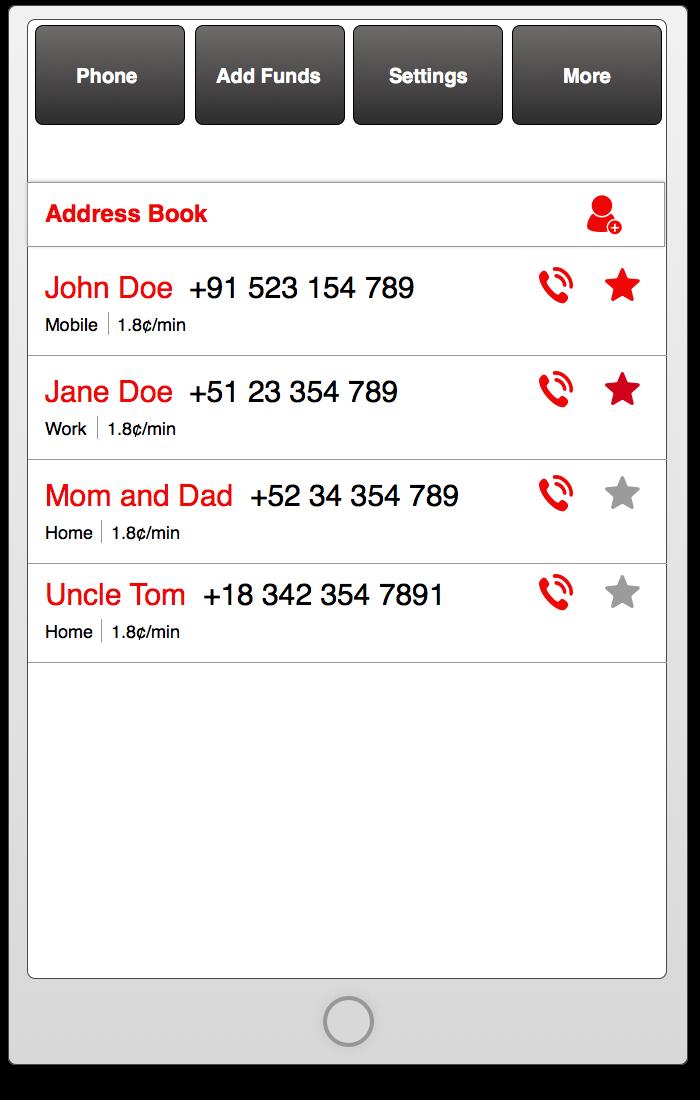 Address Book UI