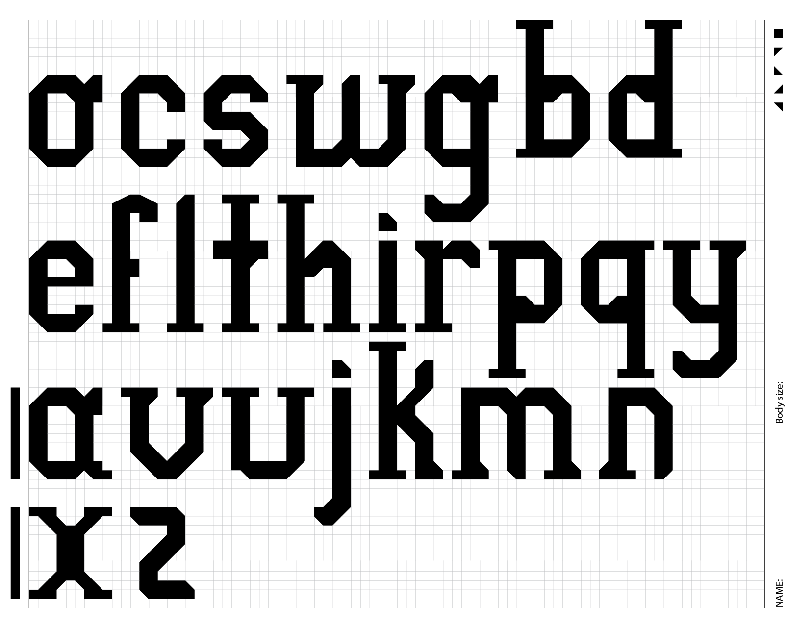 Typeface-design-alphabet