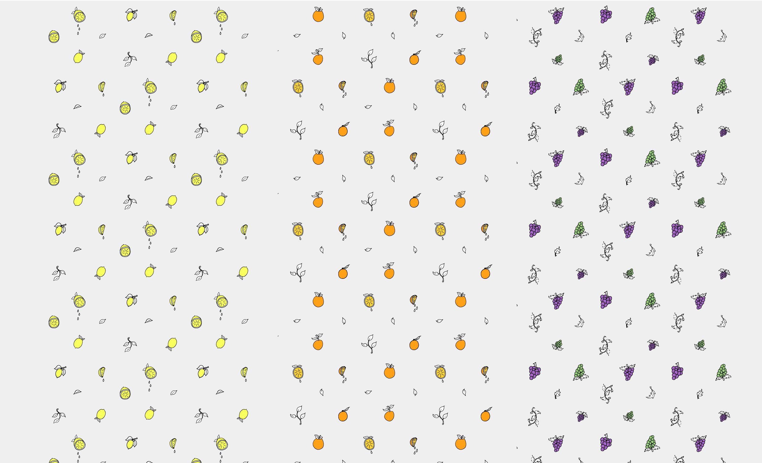 Fruit Pattern Illustrations