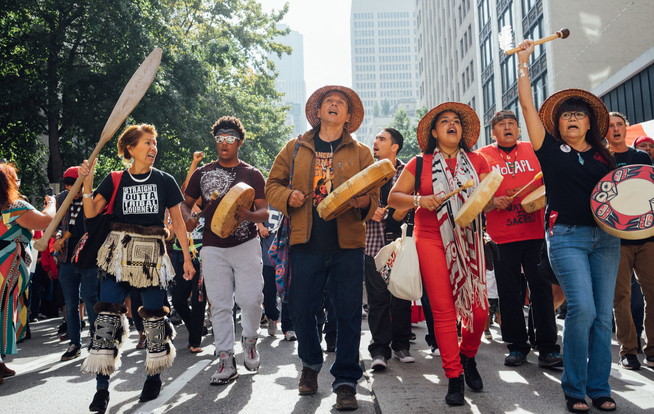 Tribes and supporters rally in Seattle for Standing Rock Sioux's pipeline battle