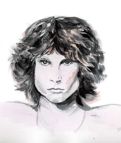 Jim Morrison   Watercolour