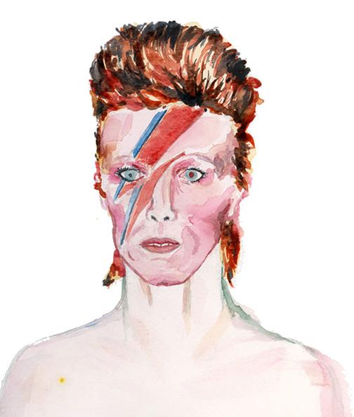 David Bowie   Watercolour