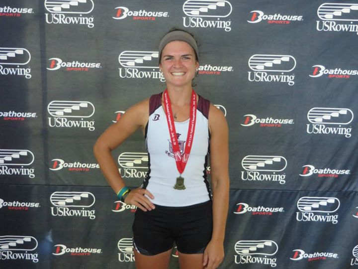 Christina Vernazza at US Rowing Club Nationals: rowing for Vesper