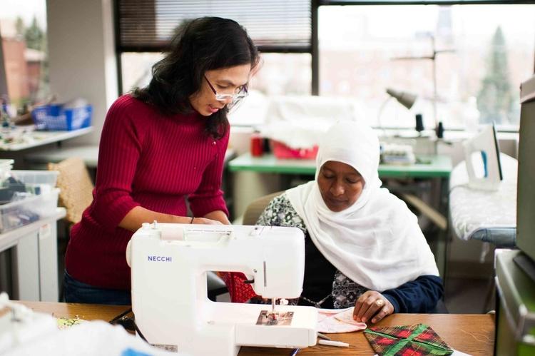 Refugee Women Sewing