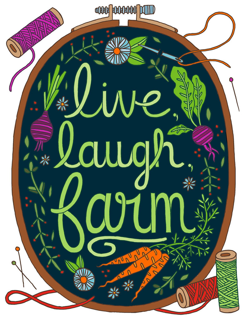 Art and lettering from   Country Life Coloring Book .  | Client: Storey Publishing. AD: Alethea Morrison.