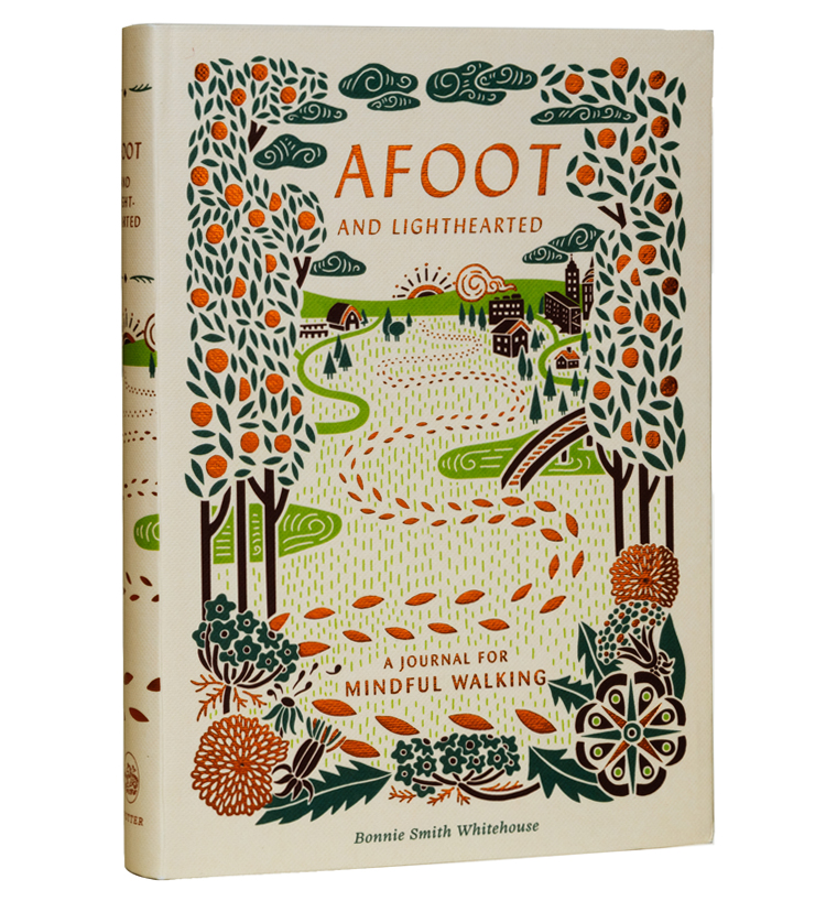 Cover art for  Afoot and Lighthearted  by Bonnie Smith Whitehouse | Client: Clarkson Potter | AD: Danielle Deschenes