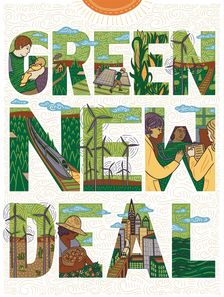 Green New Deal Poster - available as a free  PDF download  and on  INPRNT