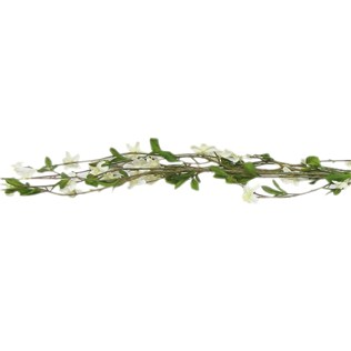6' White & Cream Apple Blossom Garland