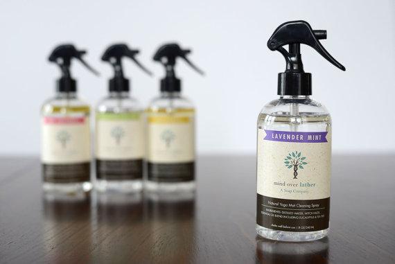 7. Lavender Mint Natural Yoga Mat Cleaner