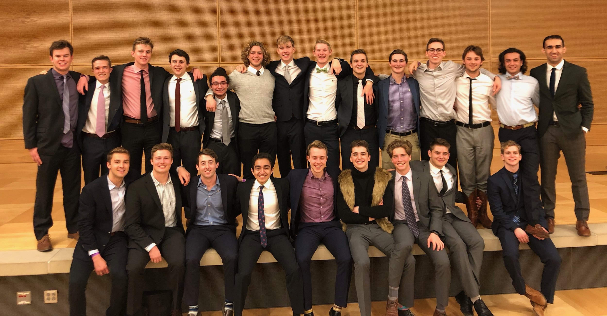 Initiation Banquet  - Following the initiation of the newest class we celebrate with the brothers from every class alumni or active. We welcome in the newest class as the previous president gives the reigns to the new one.