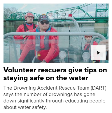 Volunteer rescuers give tips on staying safe on the water - SACRAMENTO, Calif — The Drowning Accident Rescue Team (DART) is gearing up for their busy summer season.And ABC10 met up with DART at Tiscornia Beach, right along the American River in Sacramento. DART members say it's one of the most dangerous and deceiving spots.DART, which works with local fire agencies, offered some life-saving tips for those who plan to visit the river as the weather starts warming up.