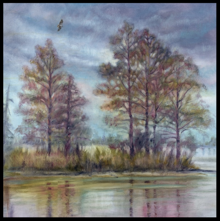 Congaree Colors  30 x 30 Oil on Linen $2500