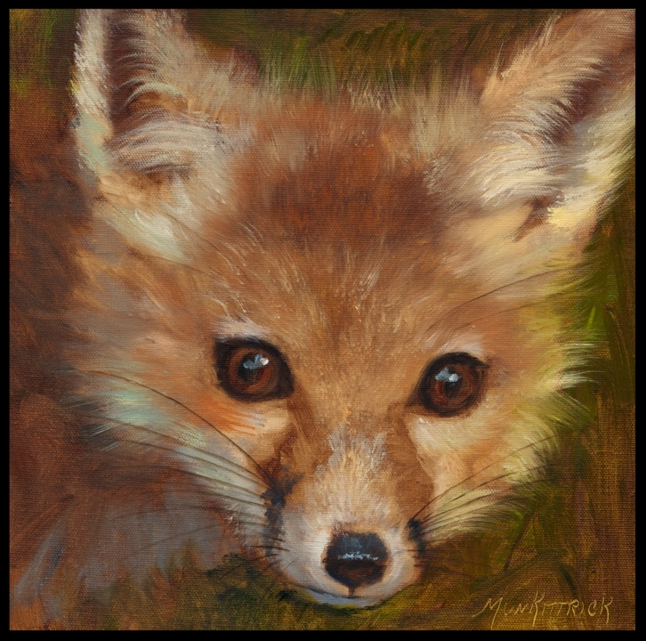 Bright eyes III 12 x 12 Oil Gallery Wrap SOLD