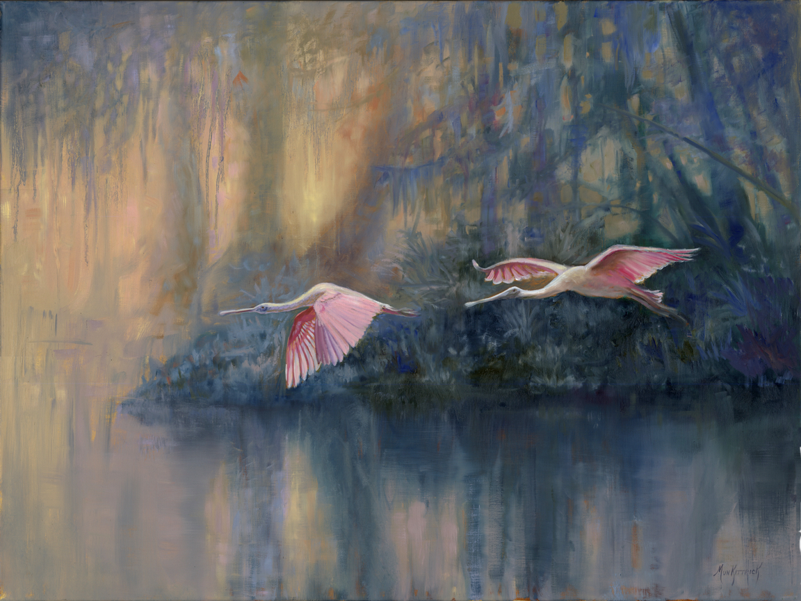 Roseate Flyby 30 x 40 Oil on linen $3600