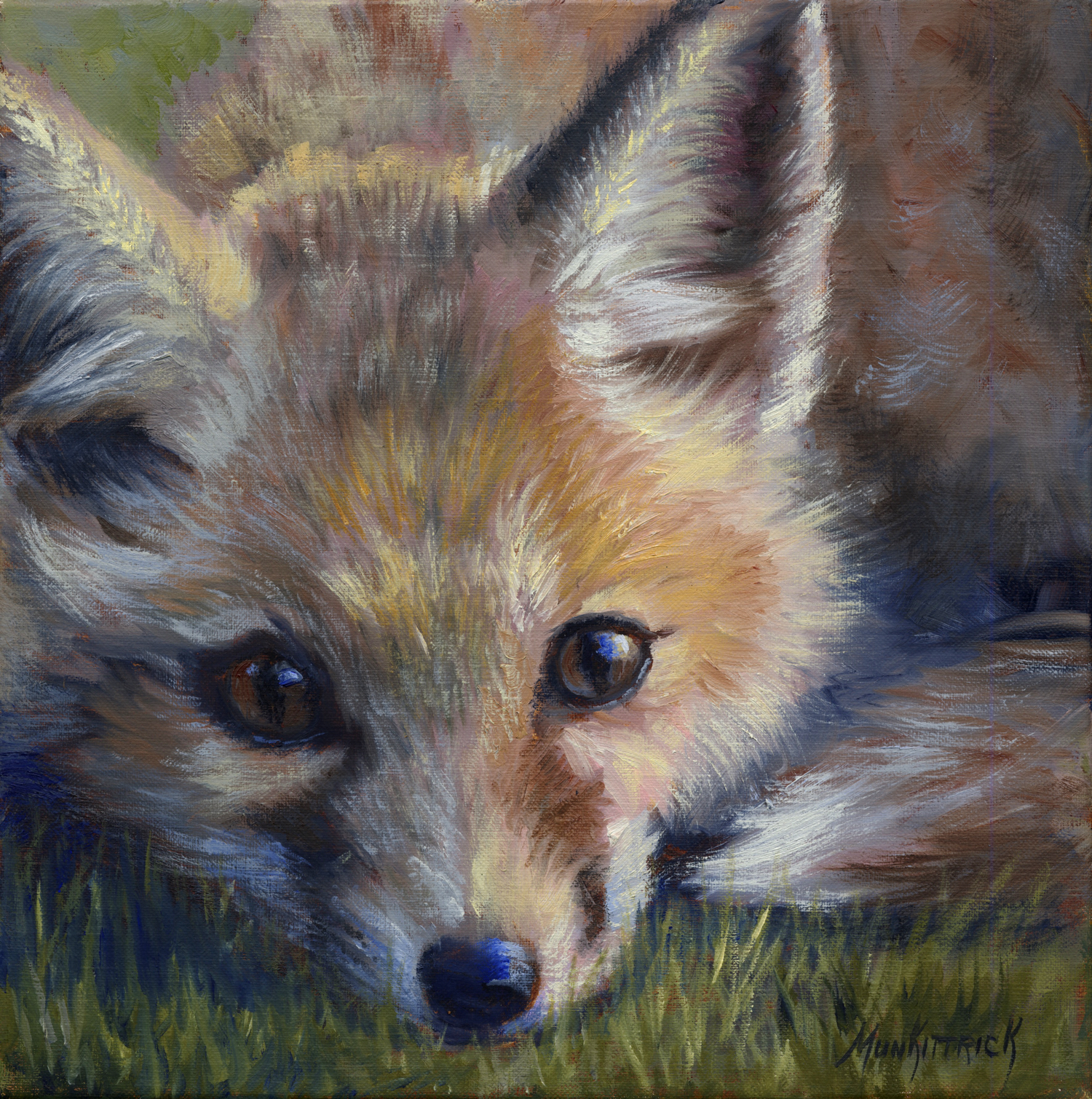 Here's Lookin' at you, Kit! 12 x 12 Oil on linen $495