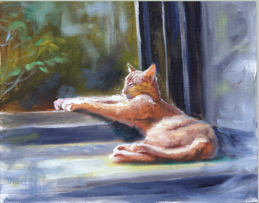 In the Sunny Spot       8 x 10      Oil     SOLD