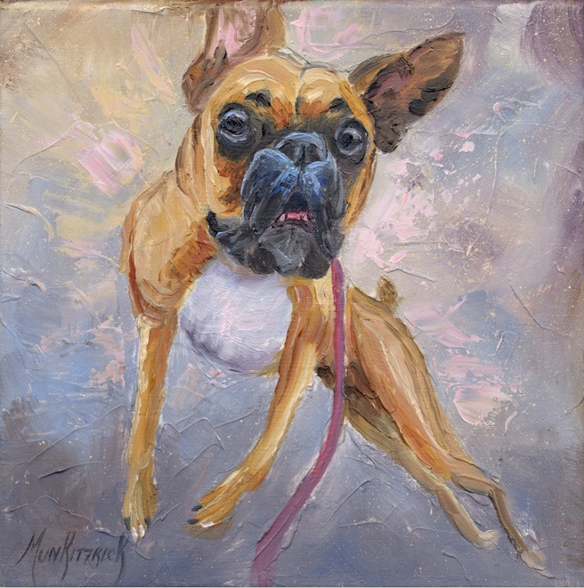Throw the Stick!      8 x 8     Oil     Commission