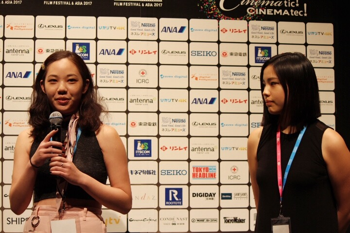 Me and Autumn being a cool sister director-cinematographer duo.  At SSFF Q&A after our screening in Tokyo for DIVINE HAMMER!