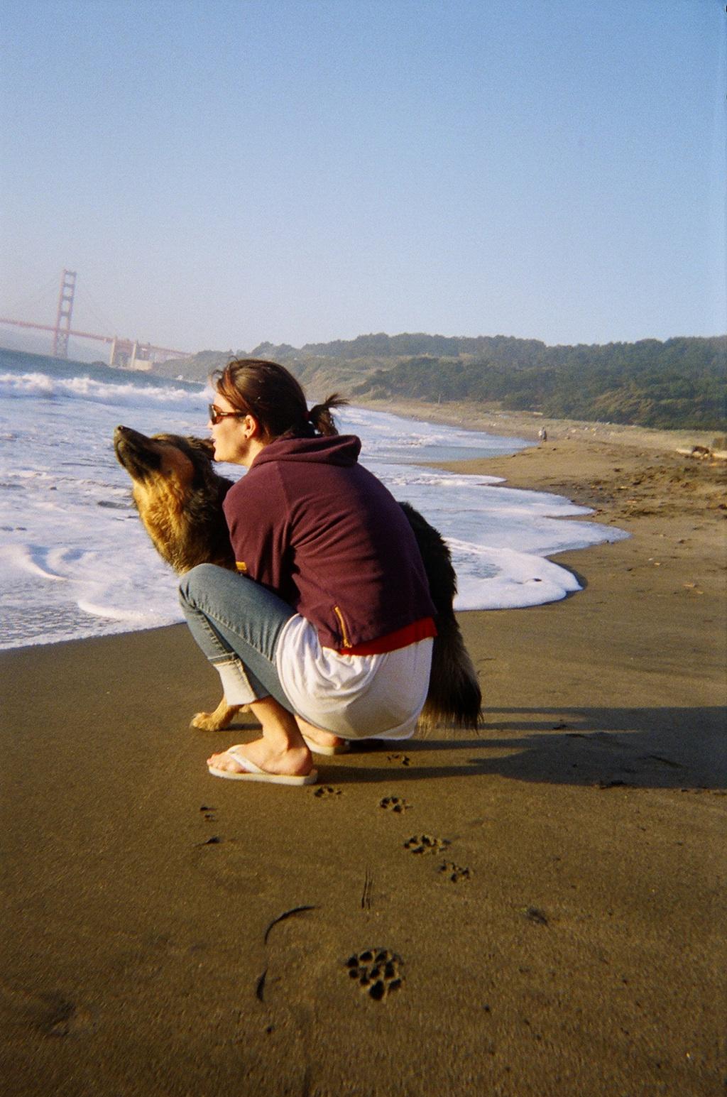 nayeli and a happy dog on bb.jpg