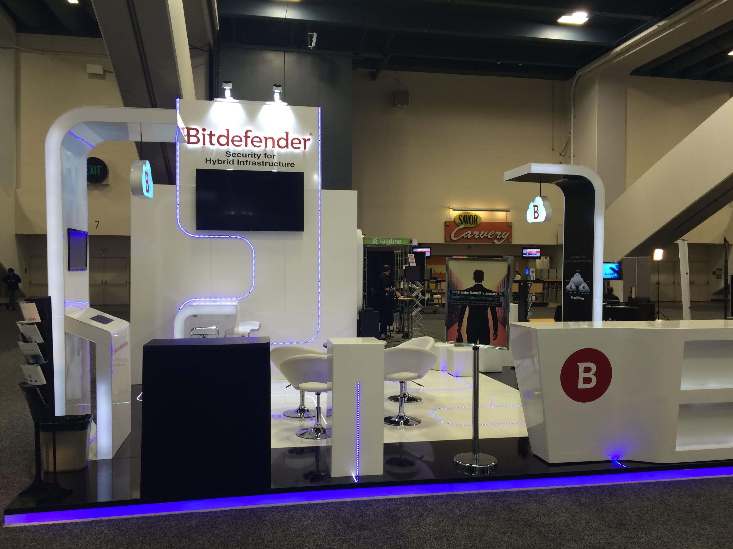 Bitdefender exhibit booth at RSA 2016, San Francisco