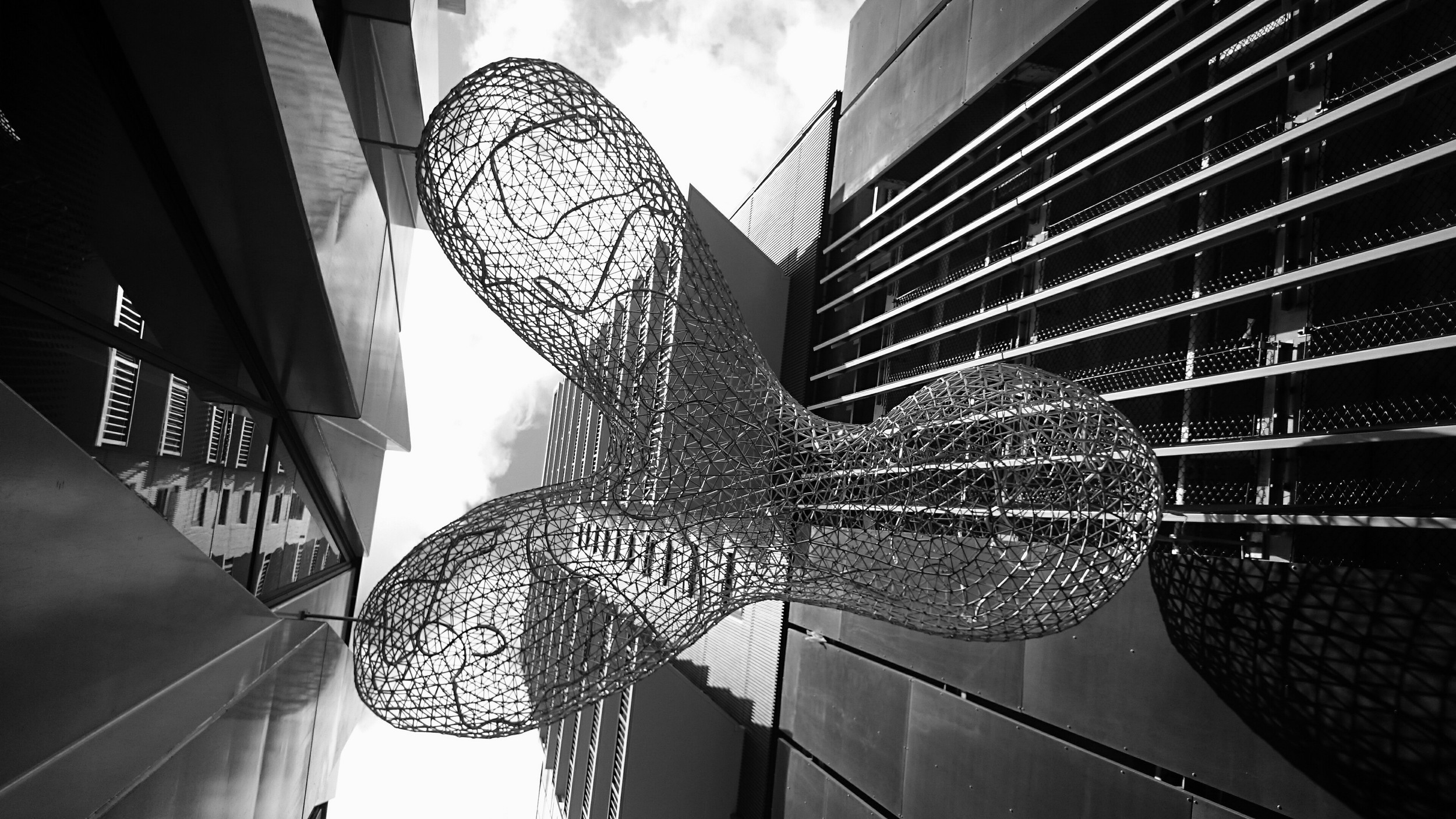 Transit Cloud  2015 Collaboration: S  ara Hughes & Gregor Kregar  Public Art Project commissioned by Auckland Council.