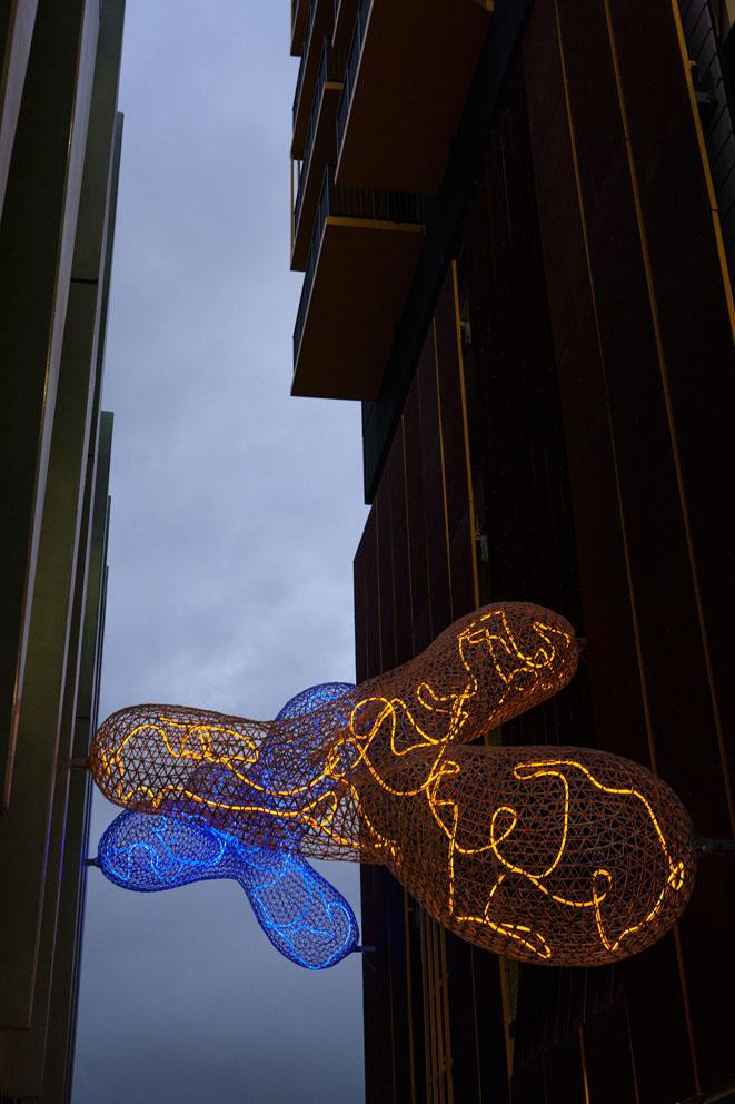 Transit Cloud  2015 Collaboration: S  ara Hughes & Gregor Kregar  Public Art Project commissioned by Auckland Council.  Photography: Simon Devitt