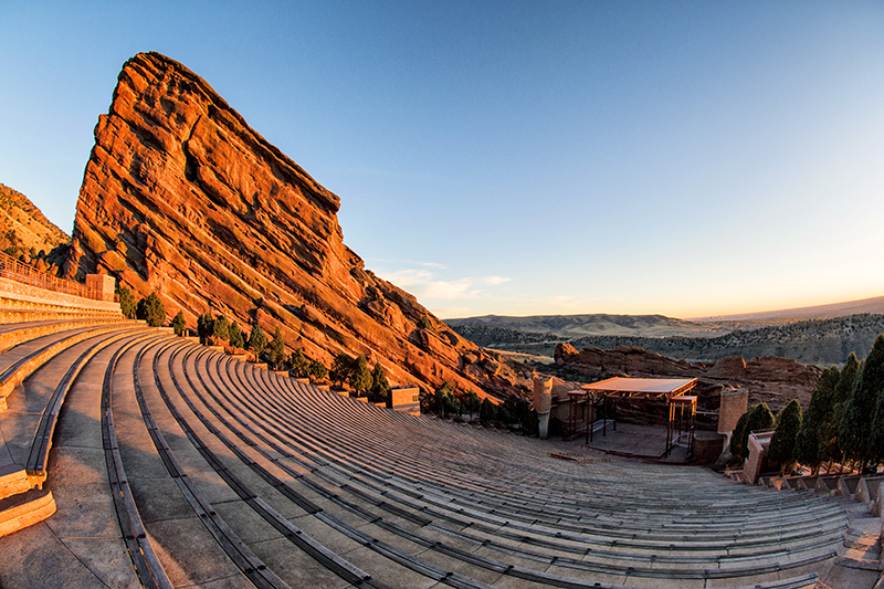 Sunrise at Red Rocks Amphitheater