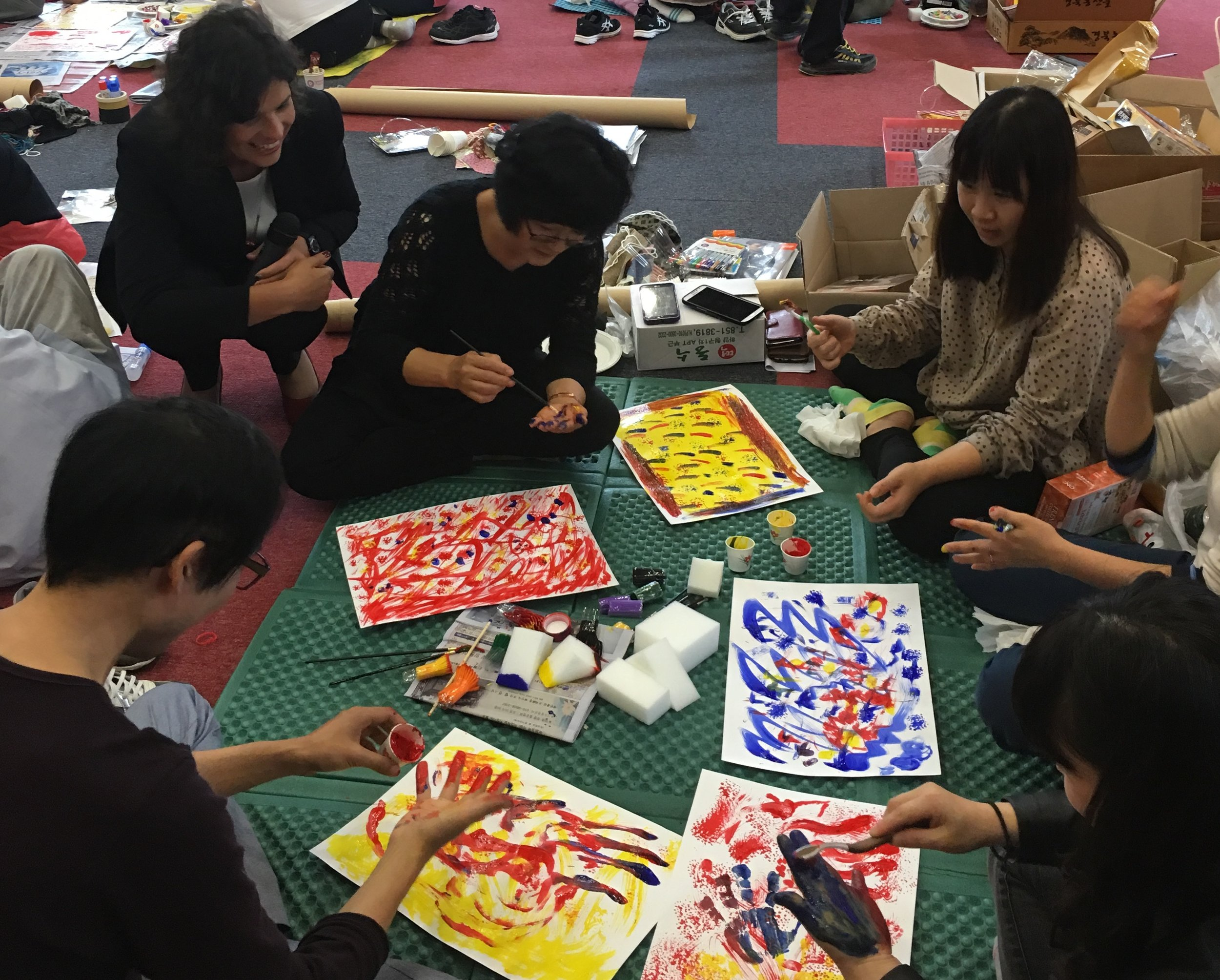 Korea ADULT students making art.JPG