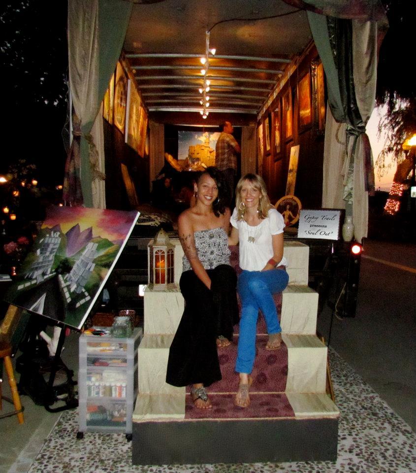 With Trail Blazer, Nikki Owens at the Pomona Art Walk on May 12, 2012.