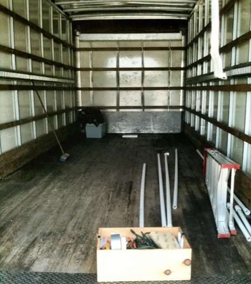 Once again, I transformed a rented 24ft moving truck into a gallery.