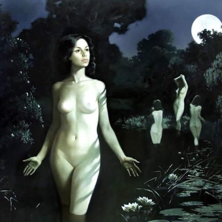 """Moon Bathing"" by Alexandra Nedzvetskaya"