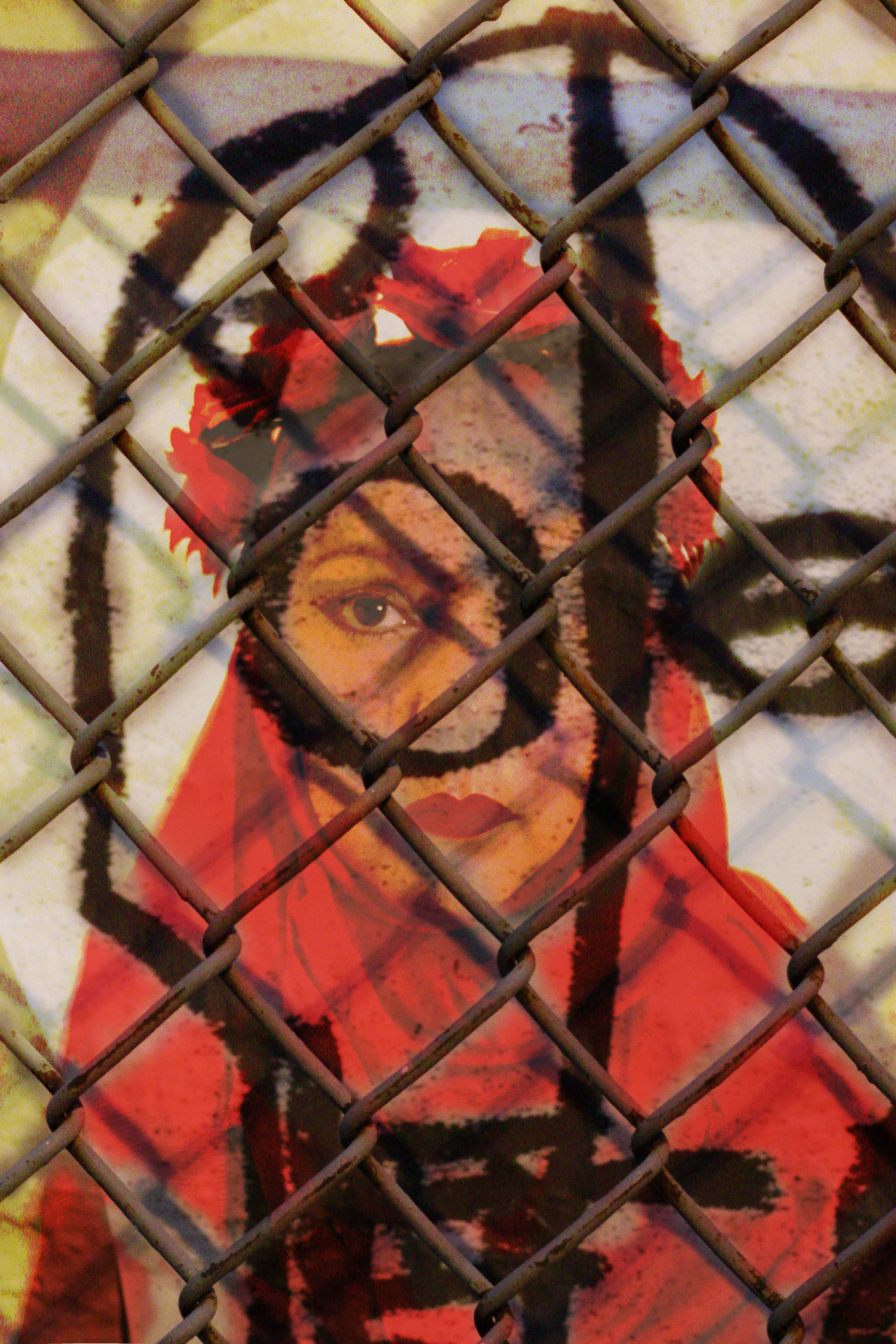 The Death of Art - A Self-Portrait depicting Frida Kahlo behind bars contemplating her love of art and her love of Islam.Which would she choose living in this modern World?MODEL | Self Scrutiny