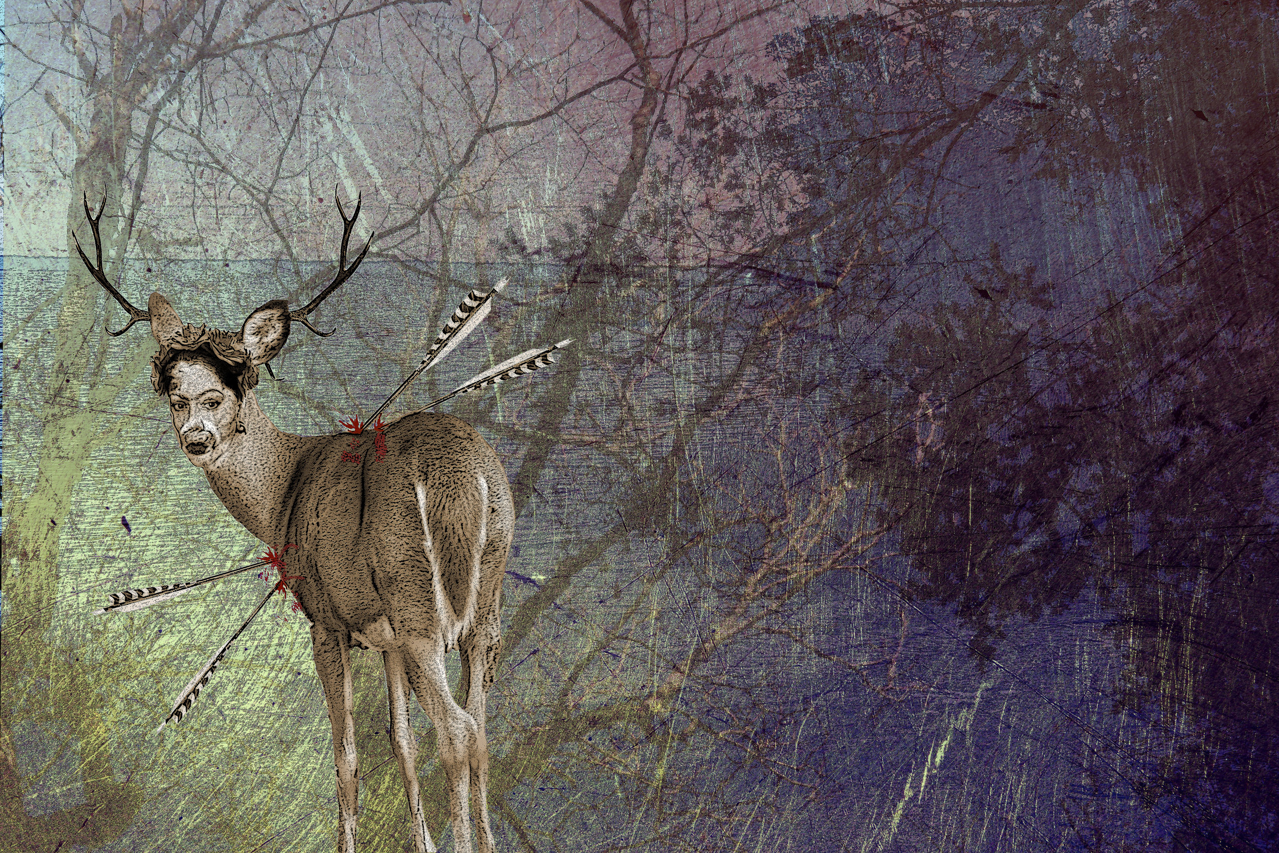 """The Hunted - Based on an experience of encountering illegal hunters shooting in a protected Marshlands, the hunted is based on the """"Deer's"""" Point of View.MODEL 