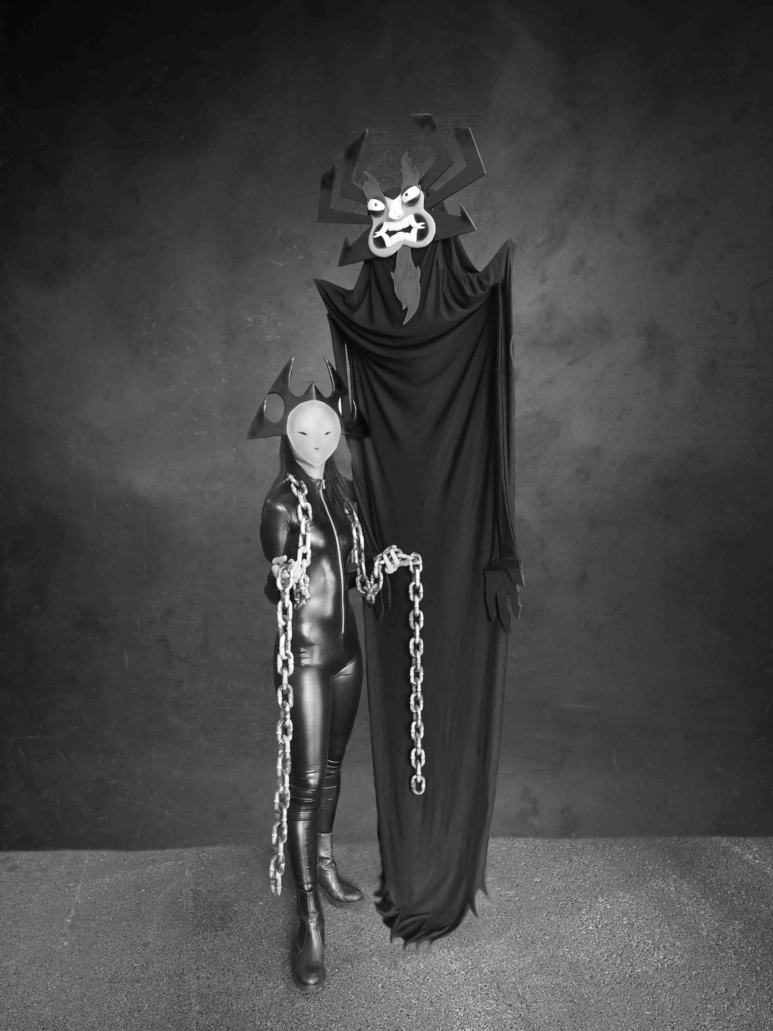 Aku - Inspired by Samurai JackAku and one of the seven Demon Hybrid Humanoid Daughters