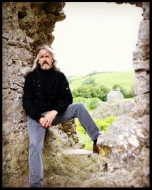 Hilliard atop the Rock of Dunamase in County Laois, Ireland  photo by Sandra O'Neill