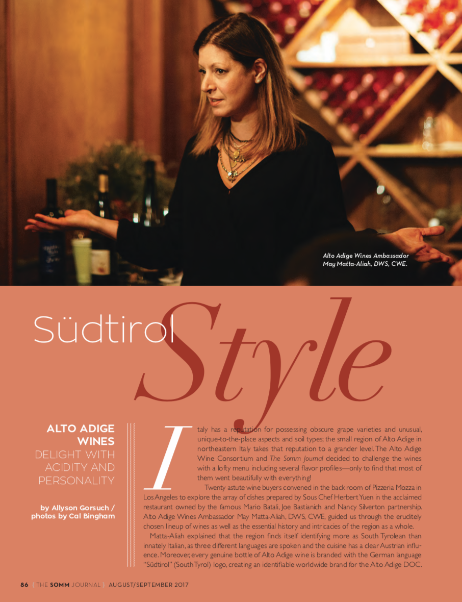 Alto Adige Wines - (The SOMM Journal) August/September 2017