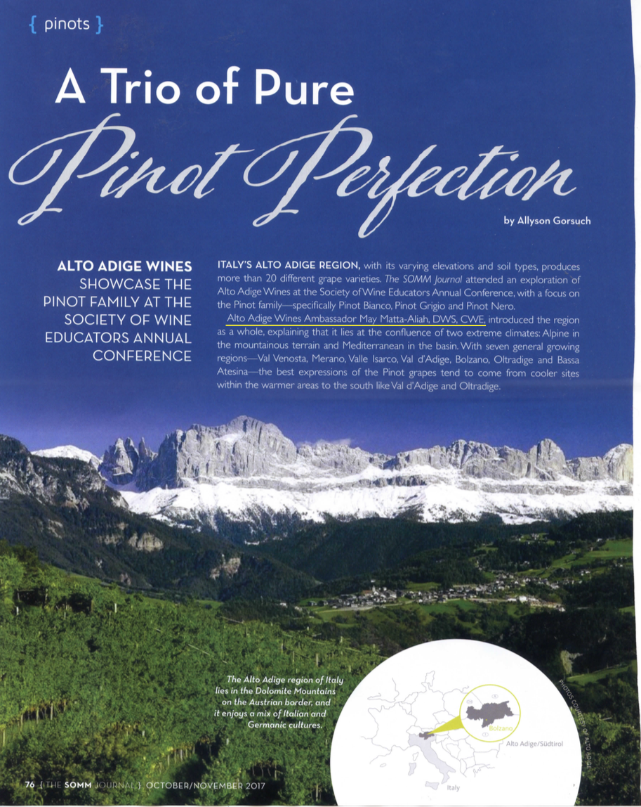 A Trio of Pure Pinto Perfection - (THE SOMM JOURNAL) OCTOBER/NOVEMBER 2017