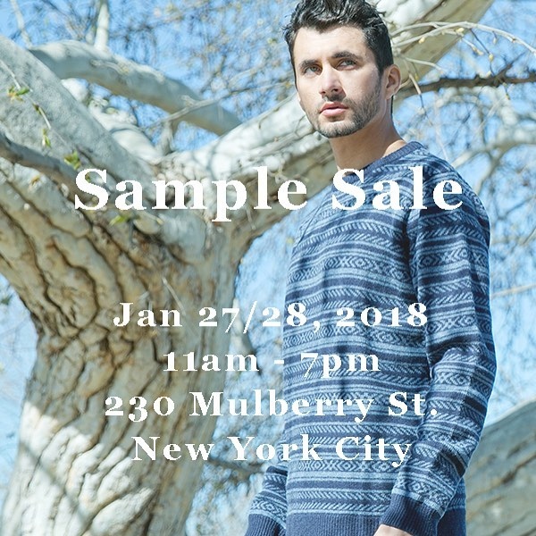 SAMPLE SALE this weekend in NYC!  #samplesale #nyc #samplesalenyc #barque #barquenewyork #barquemenswear #menswear #menssweater