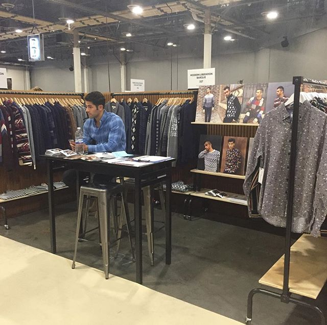 Showing BARQUE FW18 Collection @libertyfairs Las Vegas! #libertyfairs #lasvegas #menswear #barque #barquenewyork #menssweaters #woolsweaters