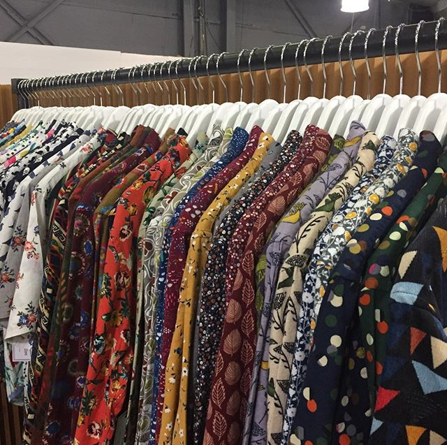 Showing FW2018 collection @libertyfairs , booth# 709!! #fw18 #fw18collection #libertyfairs #libertyfairsnyc #libertyfairs2018 #modernliberation #printshirts #prints