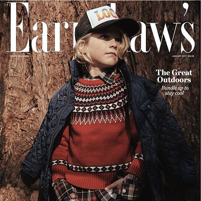 BARQUE Nordic Fair Isle Sweater featured on the cover of Earnshaw's Magazine! #earnshaw #childrensbiutique #barquenewyork #barquekids #coolboysclothing #boysclothing #yokashowroom #yokashowroomny