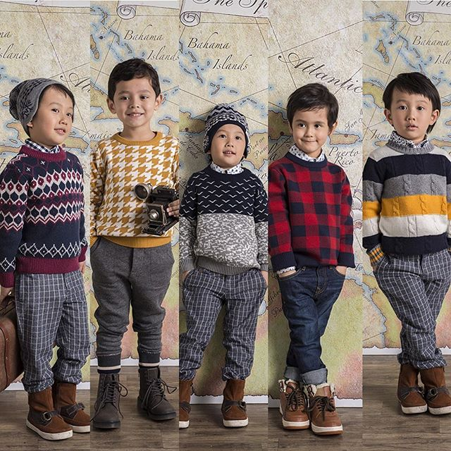 All the fun sweaters from our fall collection!  Coming to stores soon! #kidssweater #kidsfashion #kidswear #kidsbrands #barquekids #barquesweaters #fallwinter2016 #coolkids #coolkidsclothes