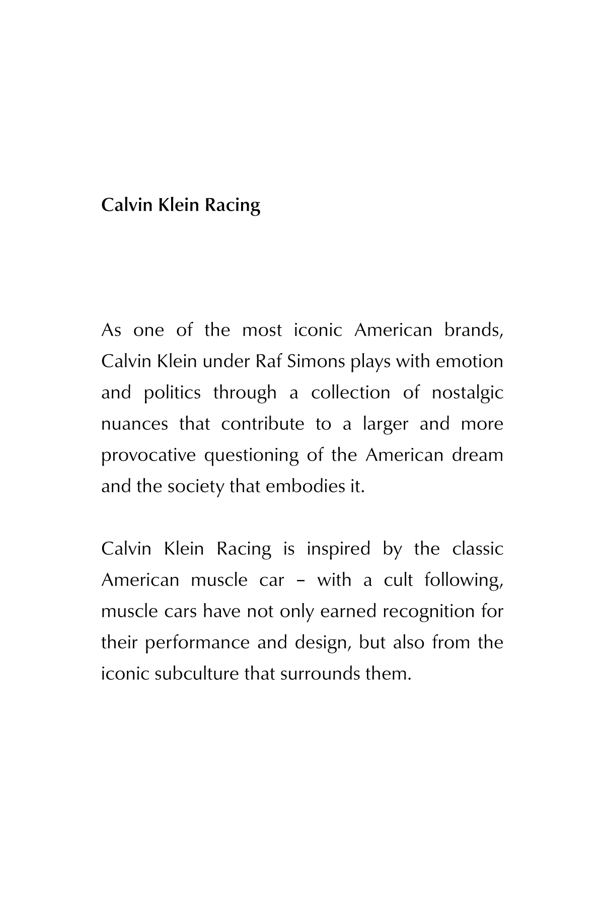 Calvin Klein Racing
